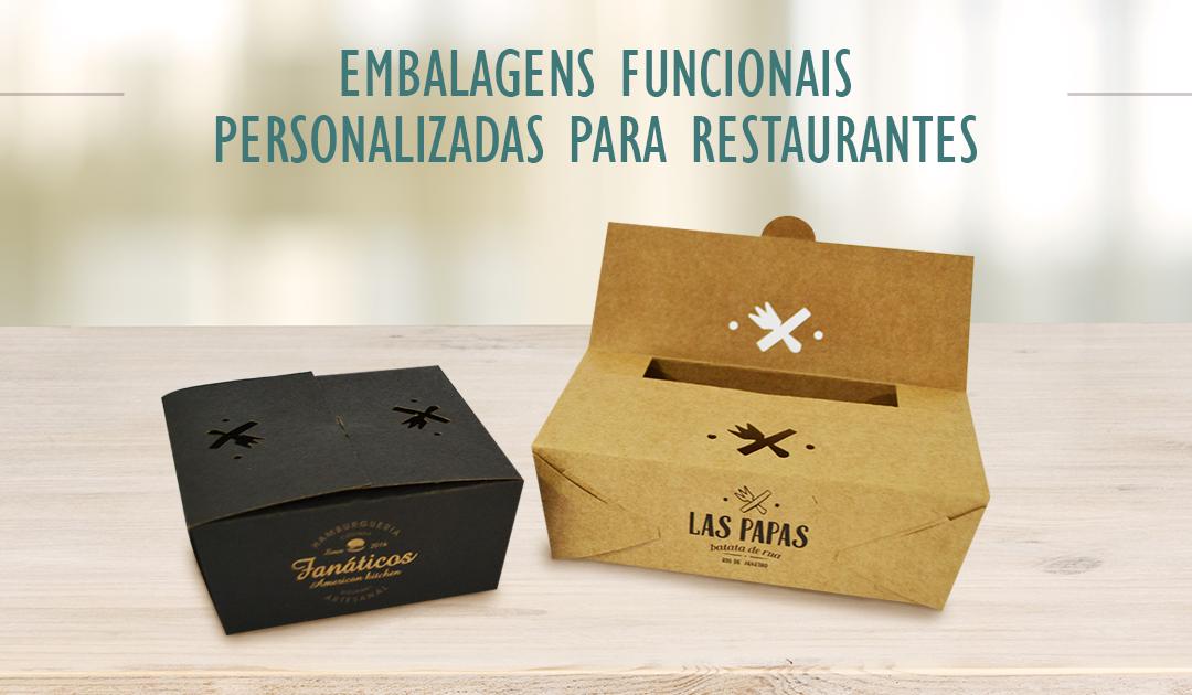 Embalagens funcionais personalizadas para restaurantes de rua