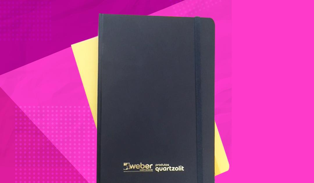Cadernos e agendas são ideias para brindes corporativos sofisticados