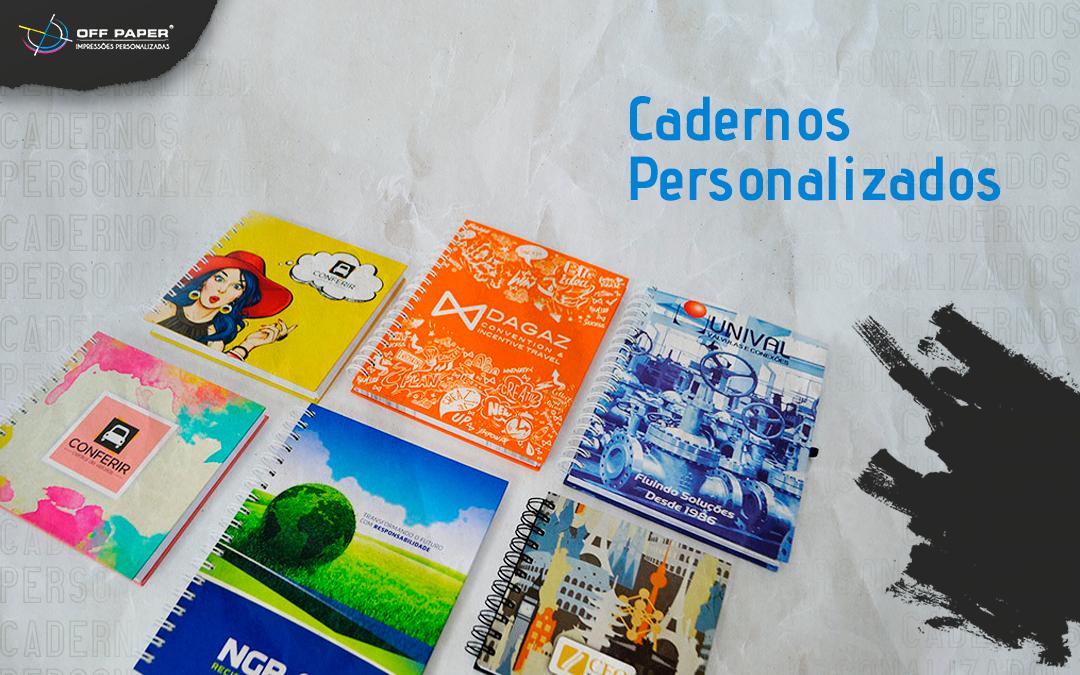 Cadernos personalizados com sua marca: conheça as opções de produção
